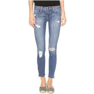 Genetic Denim Distressed James Zipper Leg Jeans 27